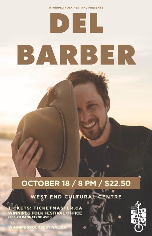 The Winnipeg Folk Festival presents Del Barber