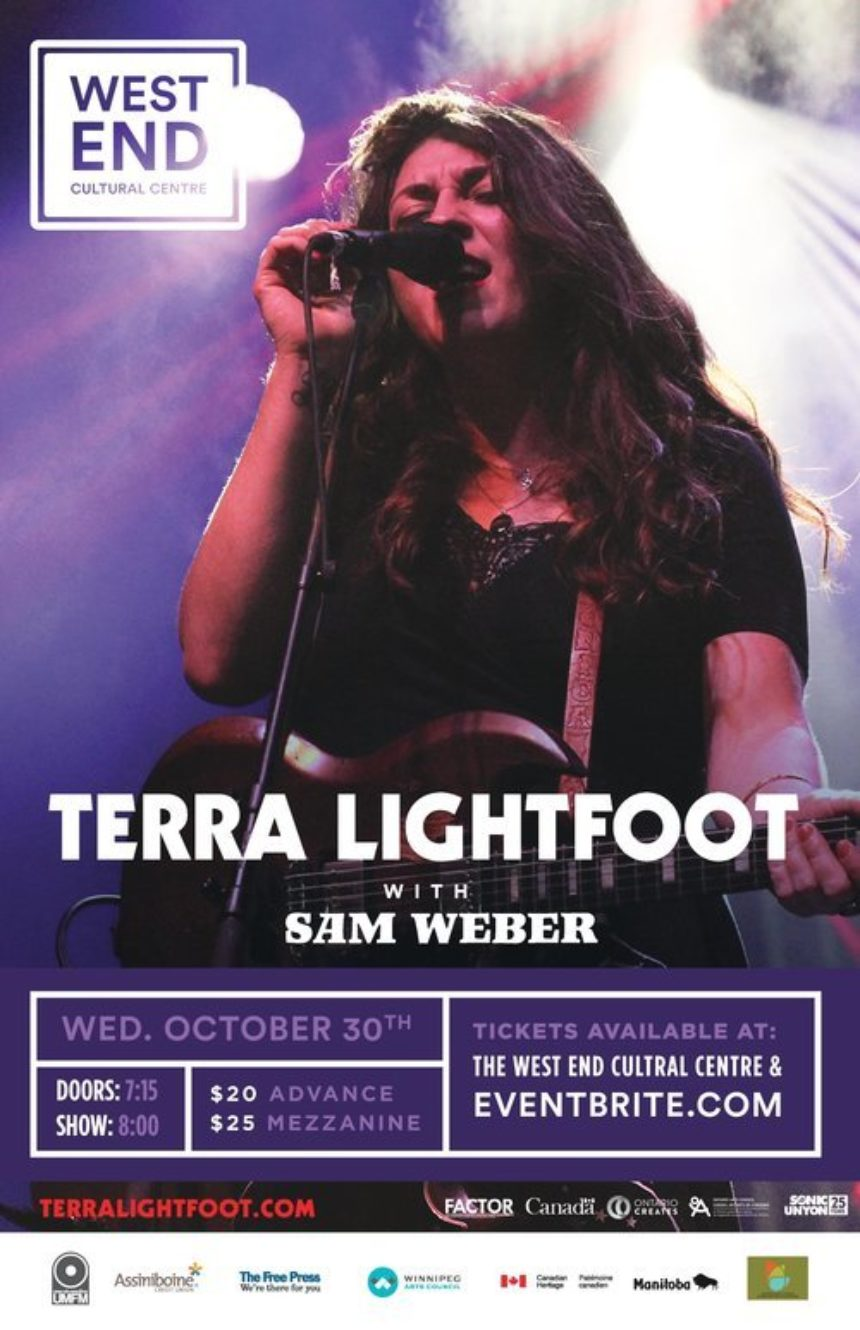 The West End Cultural Centre and UMFM present Terra Lightfoot with Sam Weber