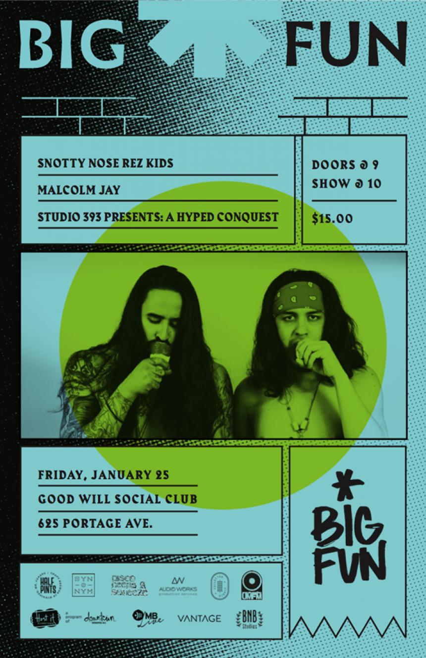 The 2019 Big Fun Festival presents Snotty Nose Rez Kids