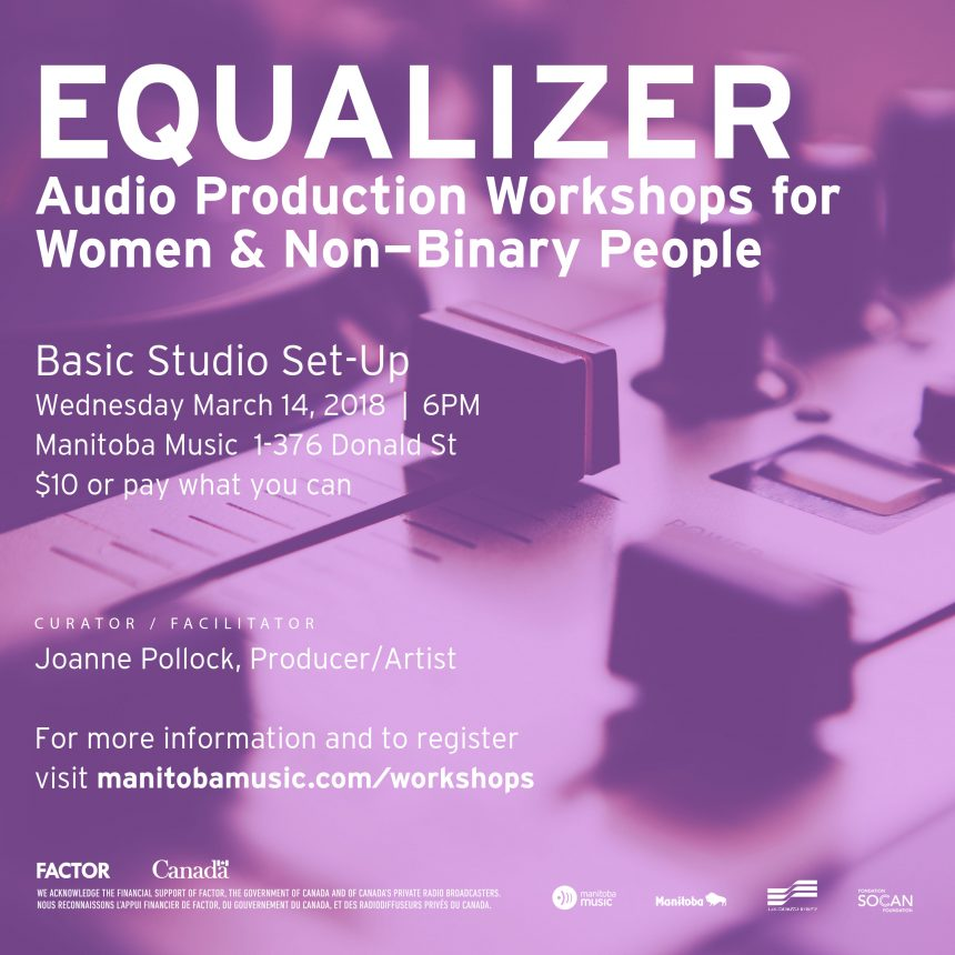 Equalizer: Audio Production Workshops for Women & Non-Binary People