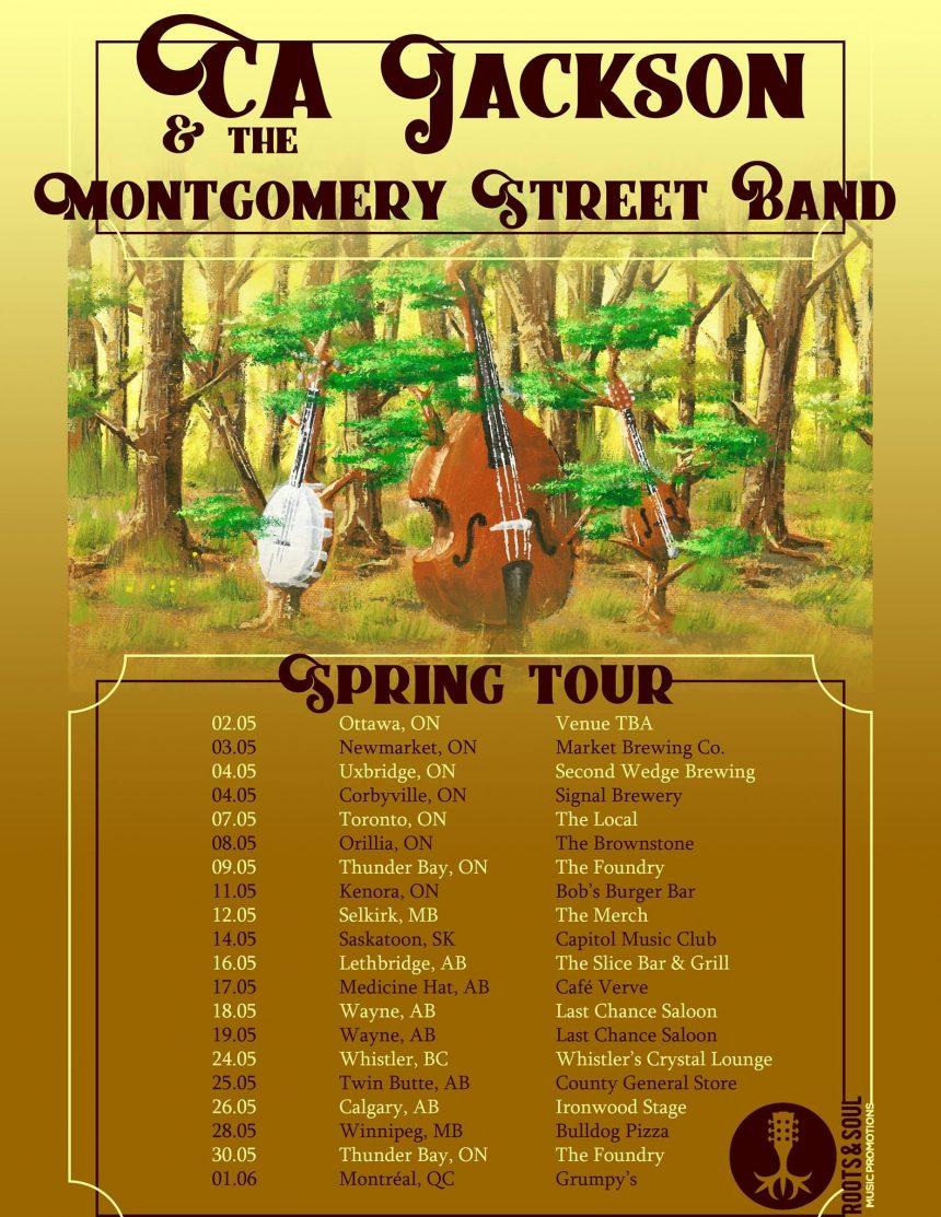 CJ Jackson & The Montgomery Street Band Spring Tour