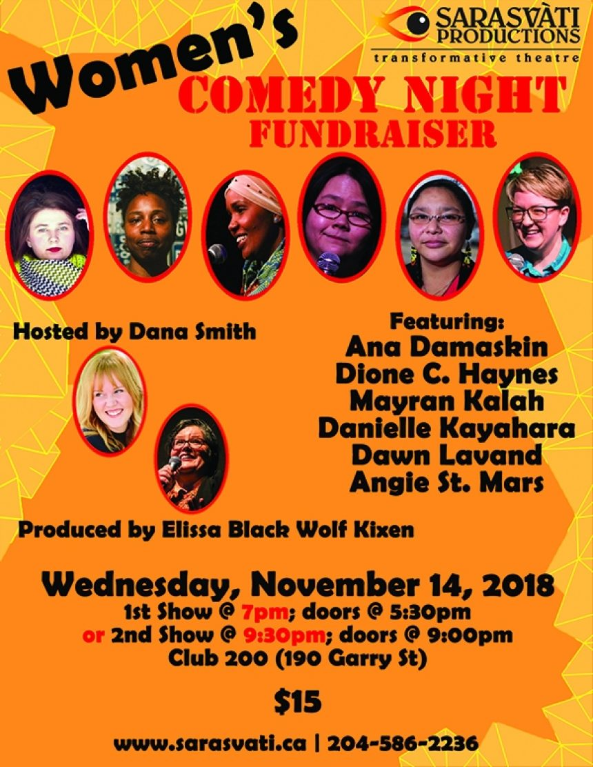 Sarasvati presents: Women's Comedy Night Fundraiser