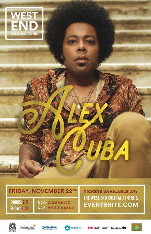 The West End Cultural Centre and UMFM present Alex Cuba