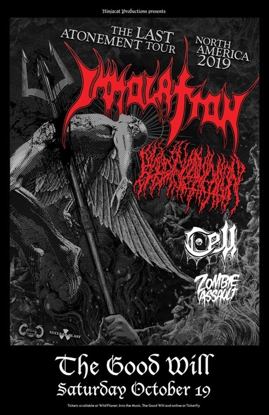 CELL's Ancient Incantations of Xarbos Album Release with special guests Immolation