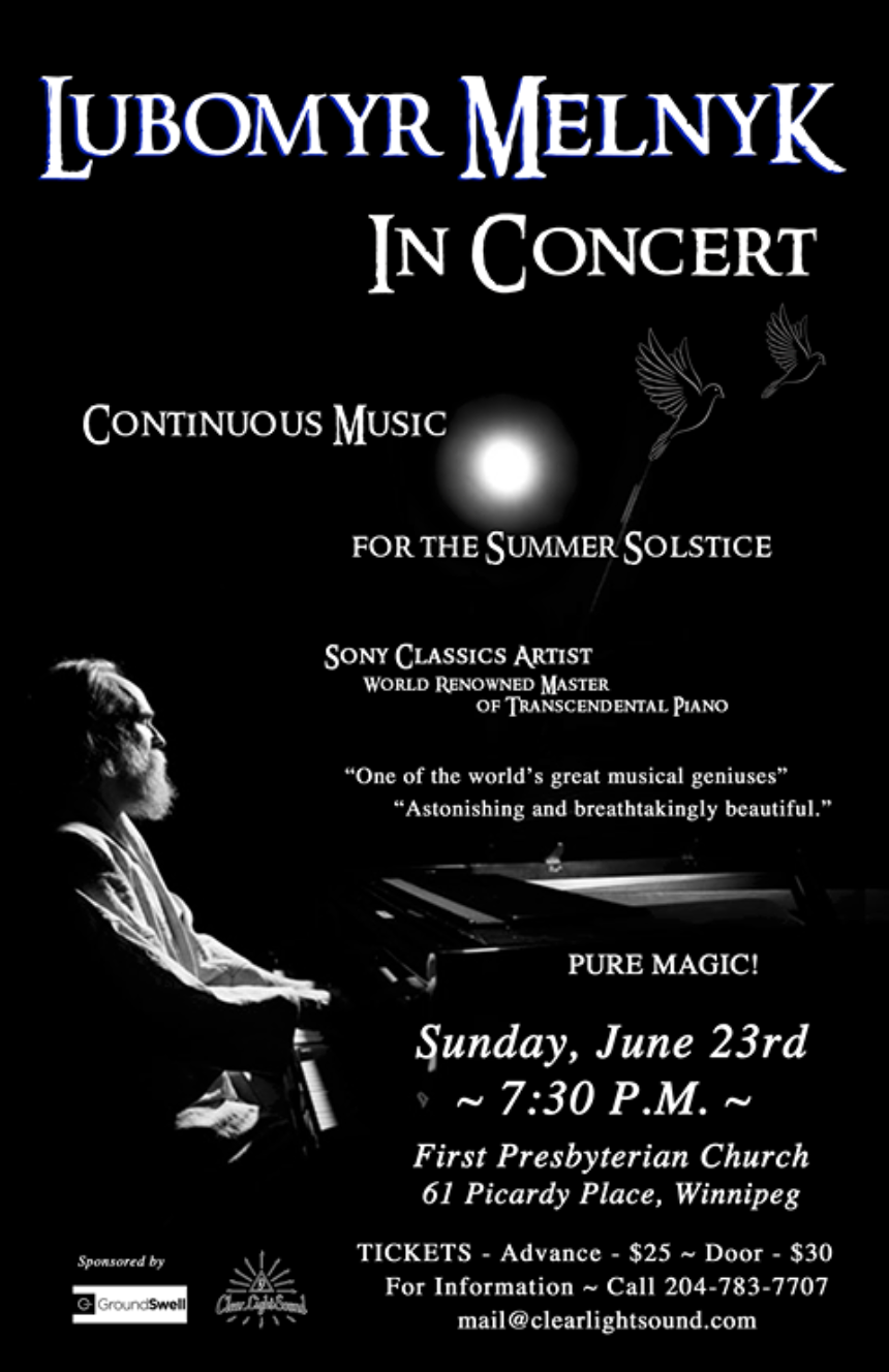 LUBOMYR MELNYK IN CONCERT ~ Continuous Music For The Summer Solstice