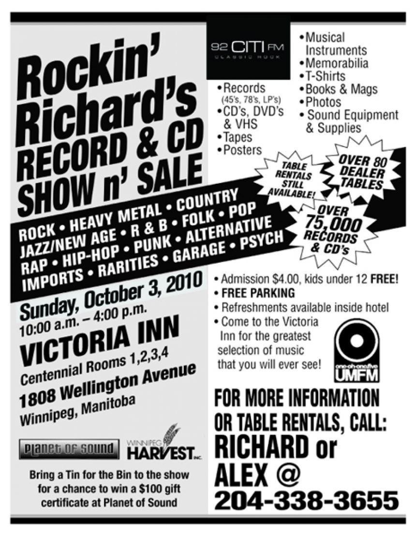 Rockin' Richards CD Show & Sale – 101 5 UMFM