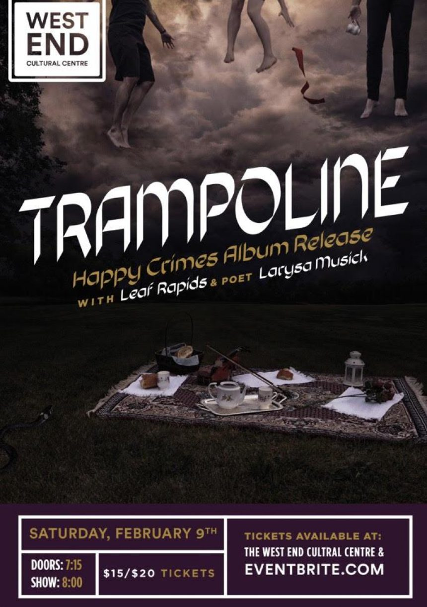 Trampoline presents Happy Crimes with guests Leap Rapids & Larysa Musick