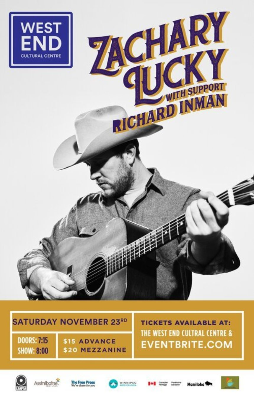 The West End and UMFM 101.5 present Zachary Lucky with guest Richard Inman