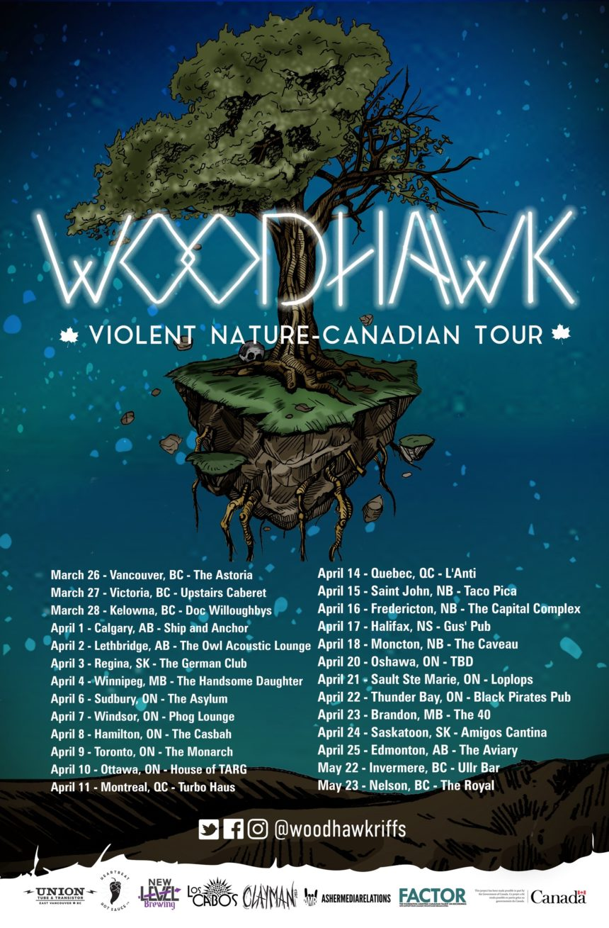 Woodhawk - Violent Nature Canadian Tour, with Black Thunder, Ogimaa, and Crime Cellar